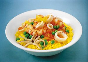 Risotto with Squids and Shrimps