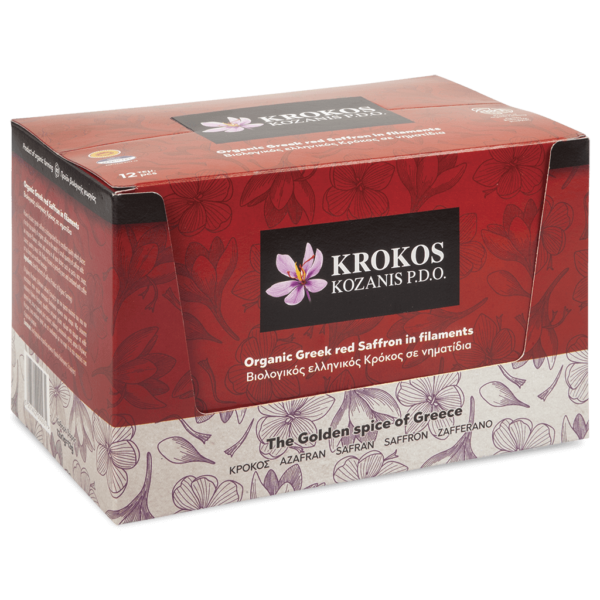 Filaments Organic Red Saffron, Carton 1g