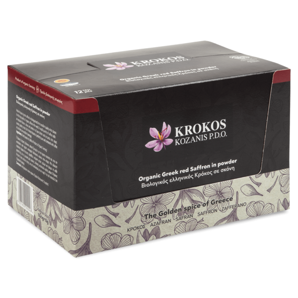 Powder Organic Red Saffron, Carton 1g