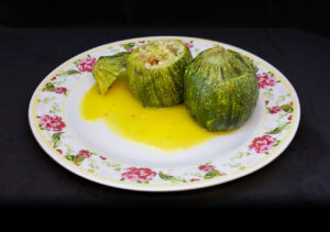 Stuffed Zucchini with Saffron