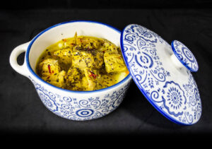 Pork in lemon sauce and Saffron