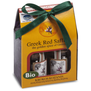 Organic Red Saffron Filaments 1g x2 Gift Box Duty Free