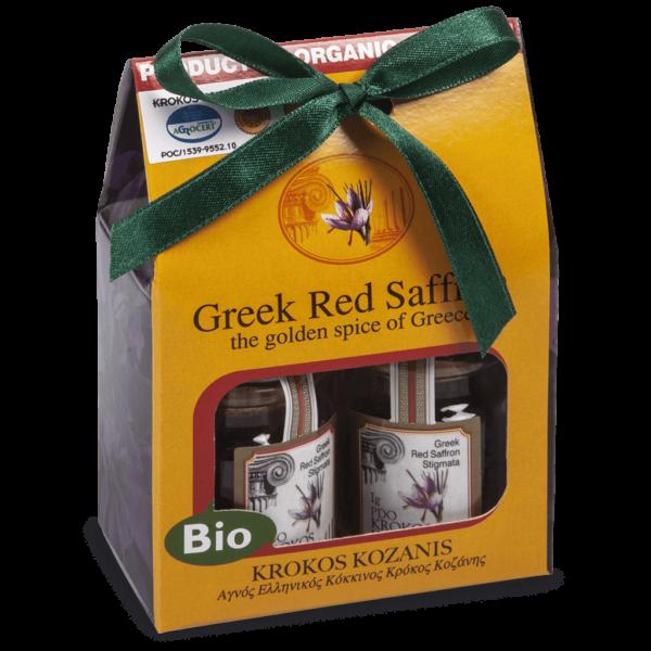 Βιολογικός Κόκκινος Κρόκος Στίγματα Κουτί Δώρου DF