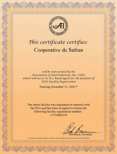 FDA Certificate Krokos Kozanis
